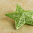 Shiny green christmas star — Foto Stock