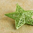 Shiny green christmas star — Stock Photo