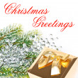 Christmas greetings. card concept — Stock Photo