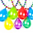 Party decoration. colorful balloons and garlands - Stock Photo