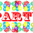 Color balloons. party decoration — Stock Photo #13415895