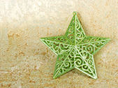 Green shiny christmas star — Stock Photo