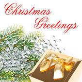 Christmas greetings. card concept — Stock Photo