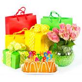 Birthday decoration. card concept — Stock Photo