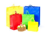 Colorful bags. Easter shopping — Stock Photo
