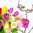 Colorful bouquet of fresh tulip flowers — Foto de Stock