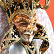 Colorful Venetian carnival masks — Stock Photo
