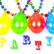 Colorful balloons and garlands. Party decoration — Stock Photo #13422136