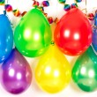 Colorful balloons and garlands. Party decoration — Stock Photo #13422244