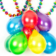 Colorful balloons and garlands. Party decoration — Stock Photo #13422247