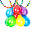 Colorful balloons and garlands. Party decoration — Stock Photo