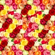 Stock Photo: Roses. colorful flowers frame