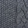Stock Photo: Abstract grey knitted wool background
