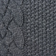 Abstract grey knitted wool background — Stock Photo