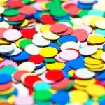 Colorful confetti background — Stock Photo #13429782
