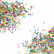 Stock Photo: Colorful confetti background