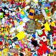 Background of multi color toys - Stock Photo