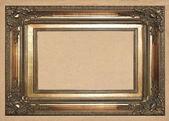 ビンテージ壁紙の背景に古いゴールデン フレーム — ストック写真