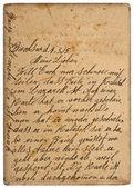 Eski kişisel el yazısıyla mektup 1915 — Stok fotoğraf