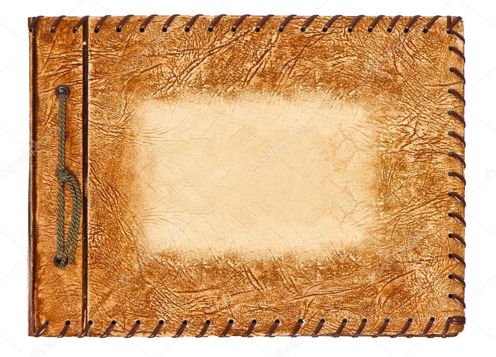 album vintage avec couverture en cuir marron photographie liligraphie 13434232. Black Bedroom Furniture Sets. Home Design Ideas