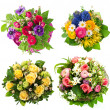 Roses, tulips, ranunculus, hyacinth, daisy, anemone -  
