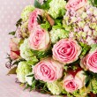 Bouquet of flowers. pink roses — Foto de Stock