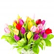 Stock Photo: Bouquet of fresh colorful tulips flowers