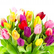 Stock Photo: Bouquet of colorful tulips flowers