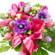 Colorful easter flowers bouquet — Stock Photo