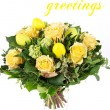 Stock Photo: Easter flowers bouquet