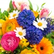 Beautiful bouquet of colorful spring flowers — Stock Photo