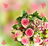Colorful spring flowers bouquet — Stock Photo