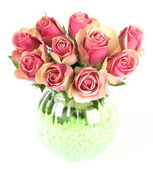 Beautiful bouquet of pink roses — Stock fotografie