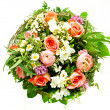 Stock Photo: Colorful spring flowers bouquet