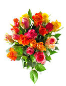 Bouquet of colorful assorted roses — Stock Photo