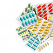 Stock Photo: Assorted colorful pills and capsules