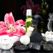 Thai oil massage accessories. spa and wellness concept — Stock Photo