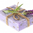 Closeup of lavender soap and fresh flower — Stock Photo #13617522