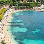 Panoramic view on the beautiful beach — Stock Photo #13762791