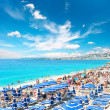 View of beach resort, Nice, France. 08. AUGUST 2011 — Stock Photo #13764083