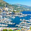 Stock Photo: Arial view over Monaco harbour. mediterranean landscape