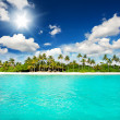 Landscape of tropical island beach with perfect sky — Stock Photo #13764985