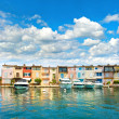 Colorful houses in Port Grimaud in Provence — Stock Photo