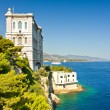 View from Monaco bay with Oceanographic Museum — Stock Photo