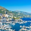 Arial view over Monaco harbour. mediterranean landscape — Stock Photo #13765371