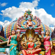 Hindu temple in Singapore over beautiful blue sky — ストック写真