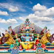 Detail of Sri Mariamman temple in Singapore — Stock Photo