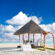 Tropical wedding location. beautiful blue sky — Stock Photo