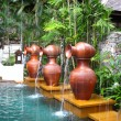 Outdoor spa centre at tropical resort — Stock Photo