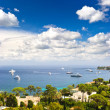 View of luxury resort and bay of Cote d&#039;Azur. french riviera - Stock Photo